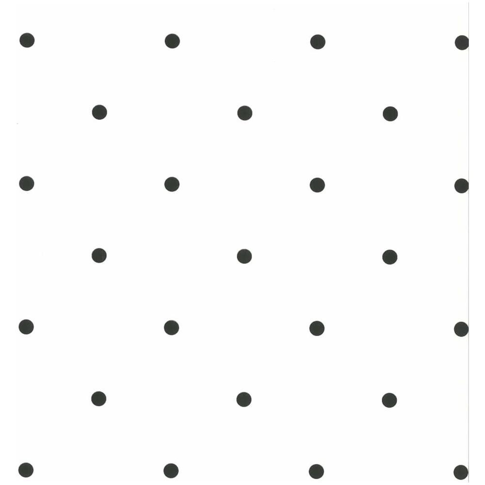 Carta Da Parati Nera fabulous world carta da parati dots bianca e nera 67105-3