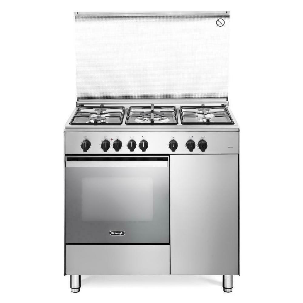 De Longhi Cucina Elettrica Demx 96 B5 Ed 5 Fuochi A Gas Forno Elettrico Ventilato Classe A Dimensioni 90 X 60 Cm Colore Inox Eprice