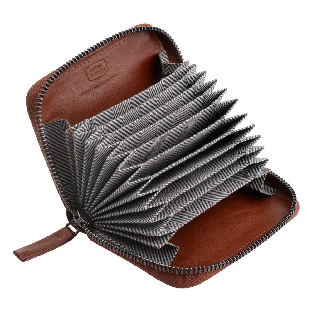 5a2f2a9fc92a18 Antica Toscana - Porta Carte Di Credito Con Cerniera Zip Around A Giro In  Vera Pelle E 11 Tasche Porta Tessere Terracotta - ePRICE
