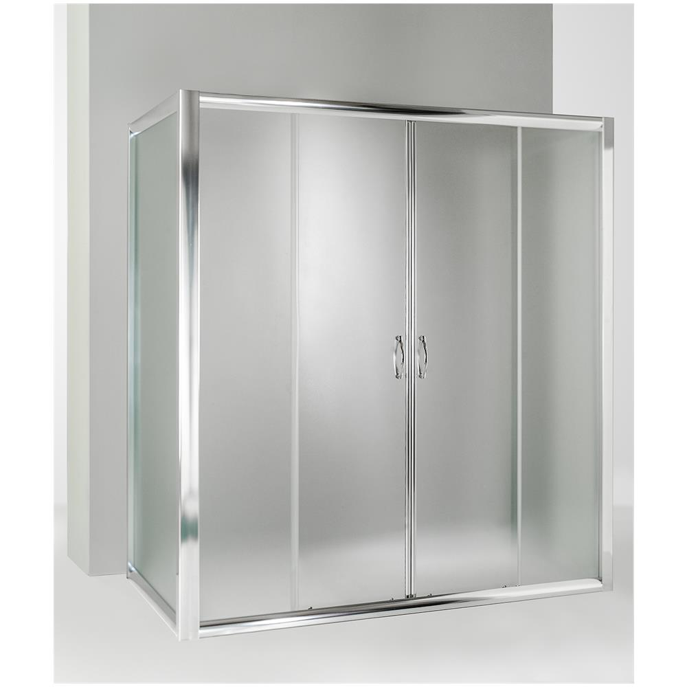 Porta Scorrevole A 2 Ante.Hydra Box Doccia 3 Lati Con 2 Ante Fisse E Porta Scorrevole