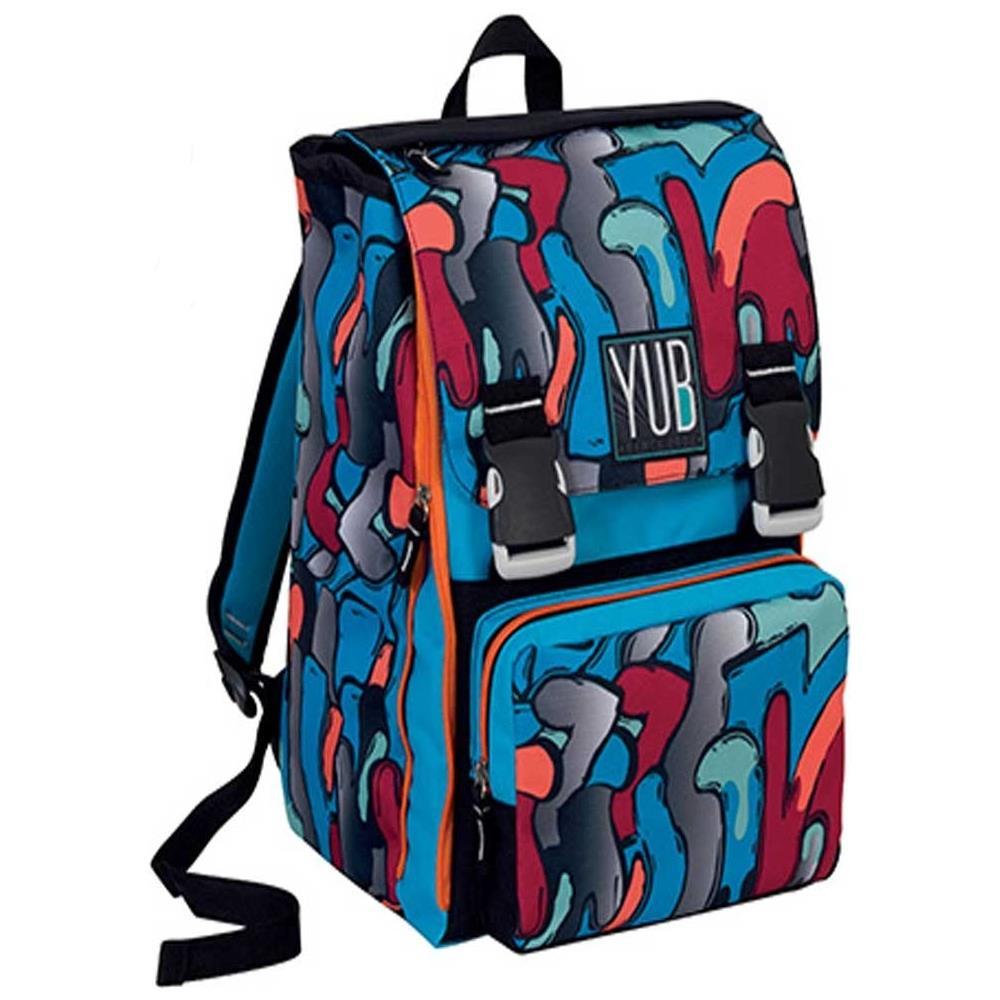 81cd4c9b60 TrAdE shop Traesio® - Zaino Sdoppiabile Big Yub Murales Boy Scuola Ragazzi  Blu - ePRICE