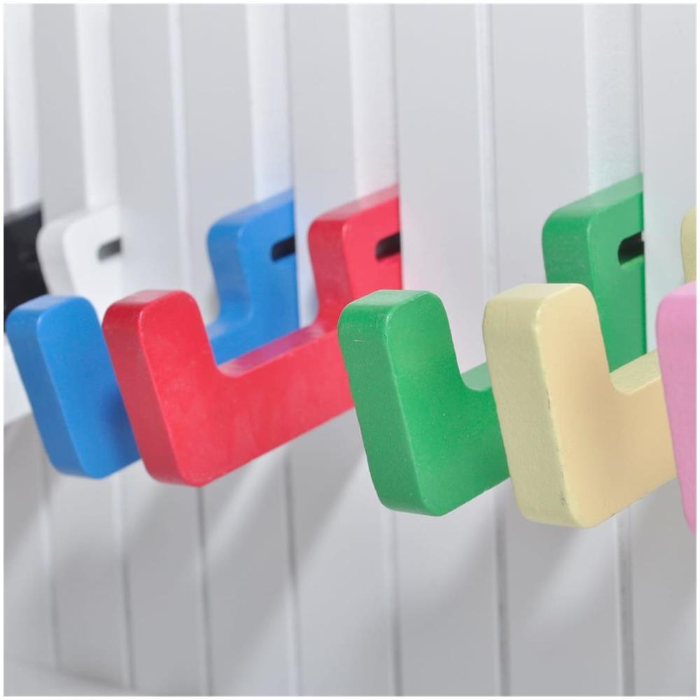 Appendiabiti Da Parete Colorati.Vidaxl Appendiabiti Da Parete Modello Tastiera Pianoforte 16 Ganci Colorati