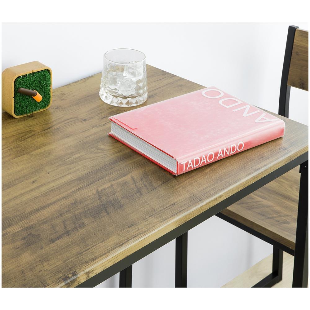 Altezza 75 cm OGT36-N SoBuy Set 3 Pezzi Tavolo con 2 sgabelli Mobile Bar sedie per Sala da Pranzo o Cucina Stile Vintage