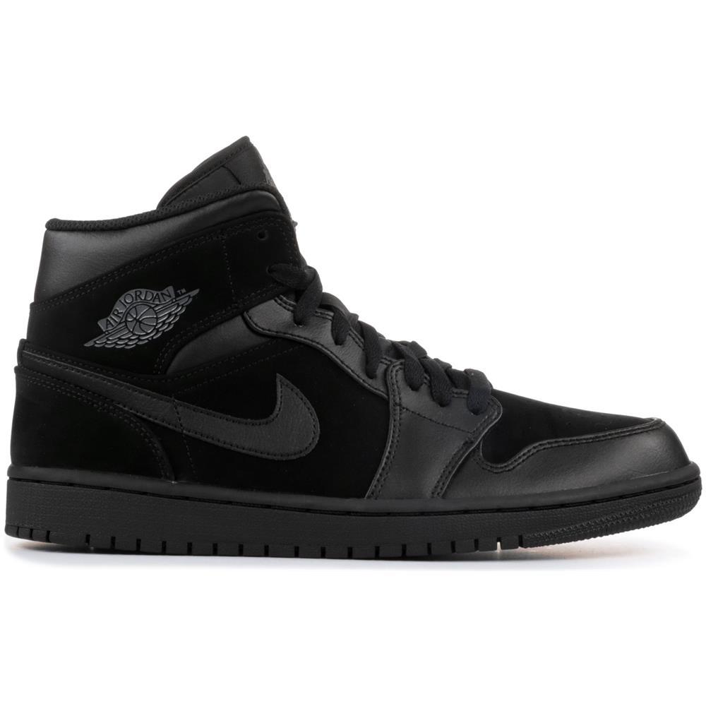 NIKE Sport Nike Air Jordan 1 Mid Nero Taglia 46