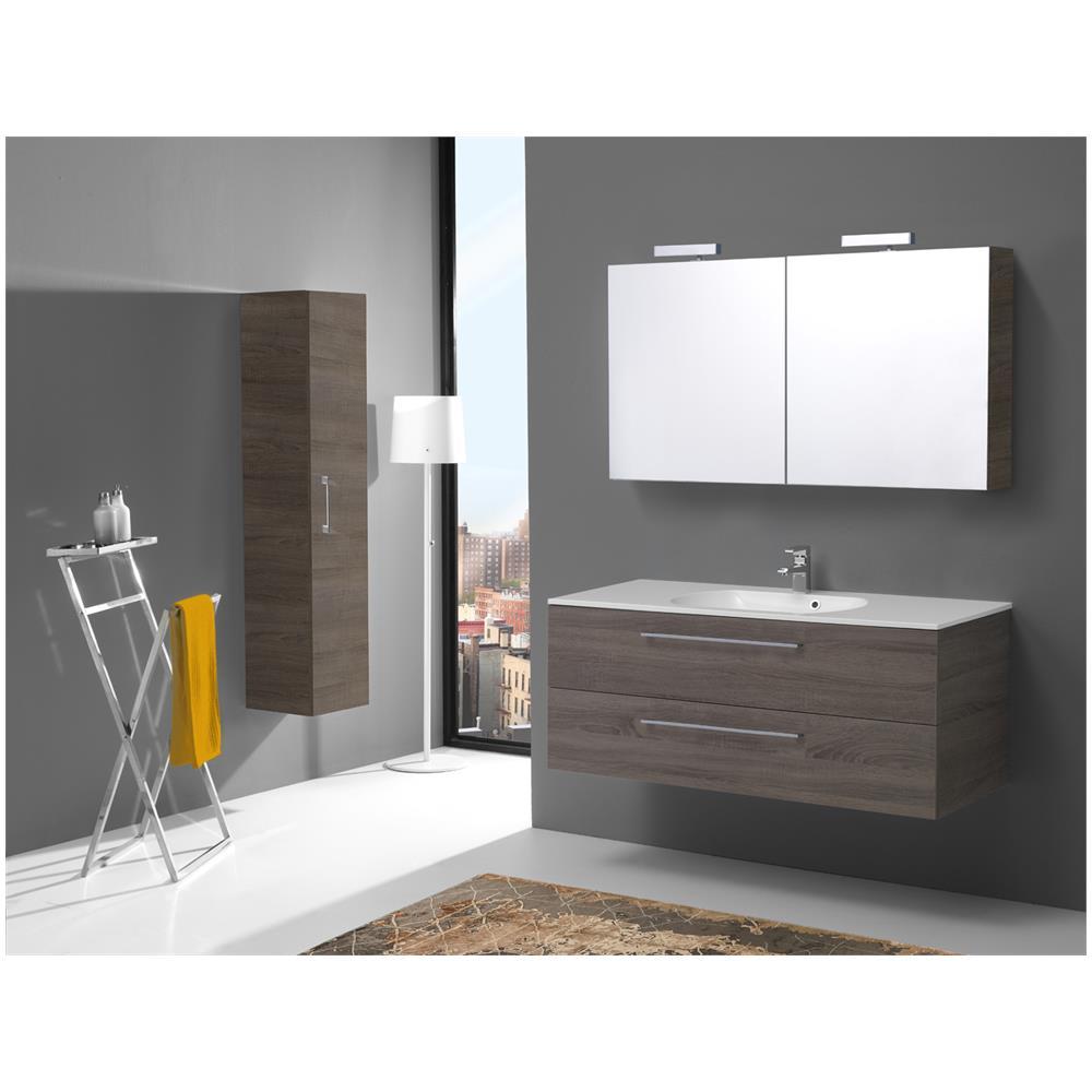 kiamami valentina mobile bagno 120 cm con due cassetti boston in tartufo specchio contenitore. Black Bedroom Furniture Sets. Home Design Ideas