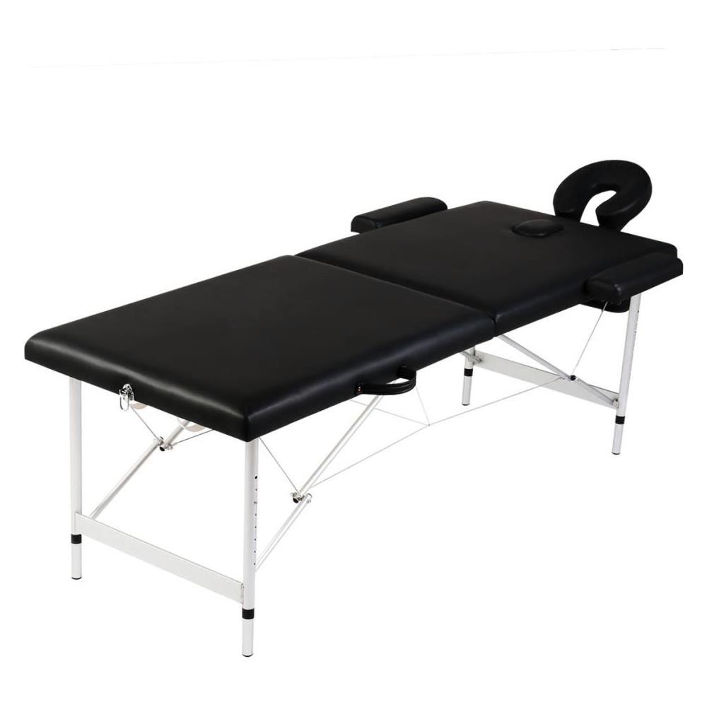 Lettino Da Massaggio Portatile Alluminio.Topstar Lettino Pieghevole Da Massaggio Nero 2 Zone Con Telaio