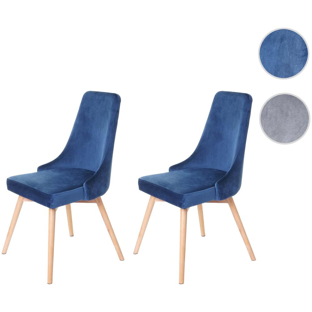Sedie In Legno Anni 50.Mendler Set 2x Sedie Hwc B44 Design Retro Anni 50 Legno Velluto