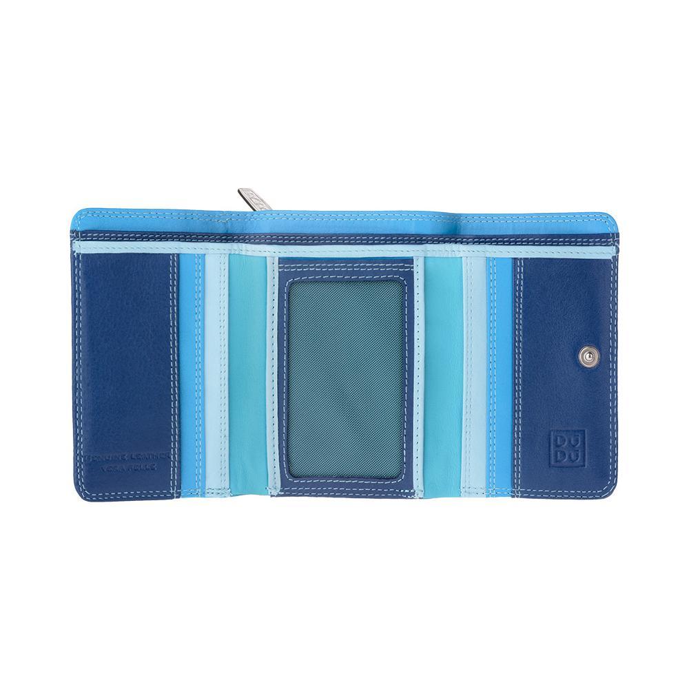 a14067324c DuDu - Portafoglio donna piccolo in pelle multicolore Colorful Blu - ePRICE