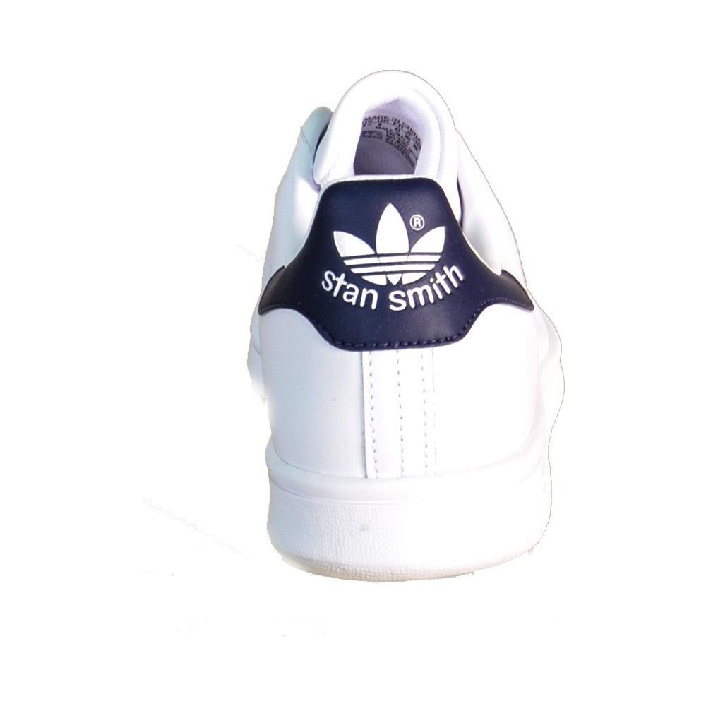 check out 1c618 63f0c Adidas Stan Smith Scarpe Uomo Donna Pelle Bianco Blu M20325 46