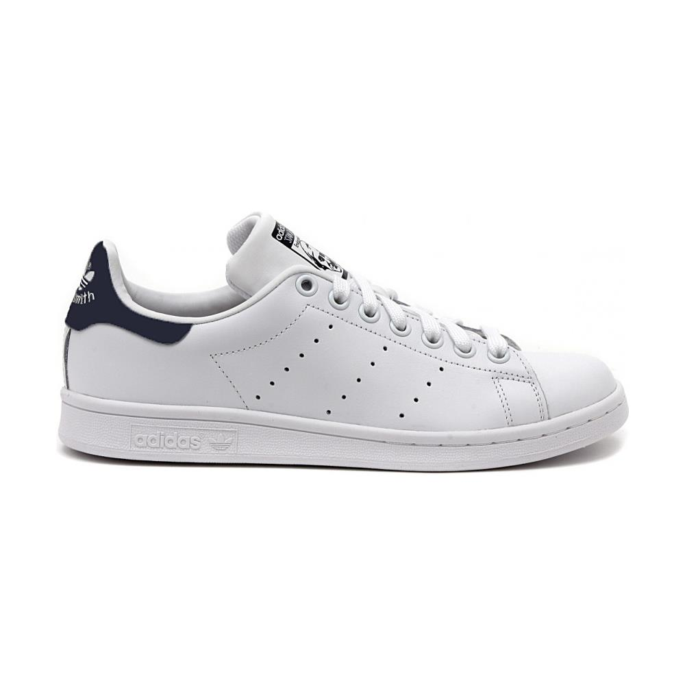 timeless design 97120 81aa8 Tutte le immagini. Adidas Stan Smith Scarpe Uomo Donna Pelle Bianco Blu  M20325 46