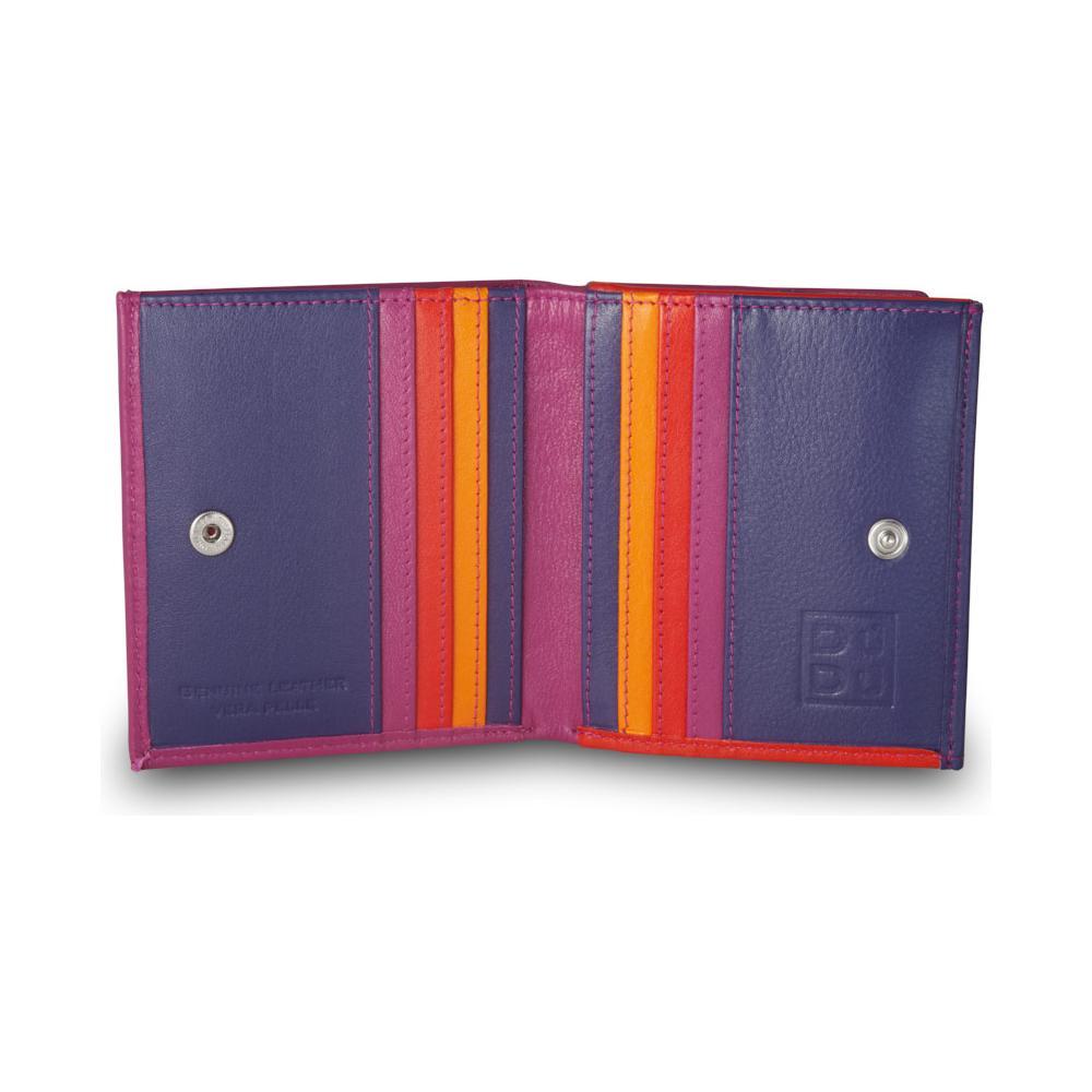 bc93871cd0 DuDu - Portafoglio di pelle multicolore porta carte e monete Fucsia - ePRICE