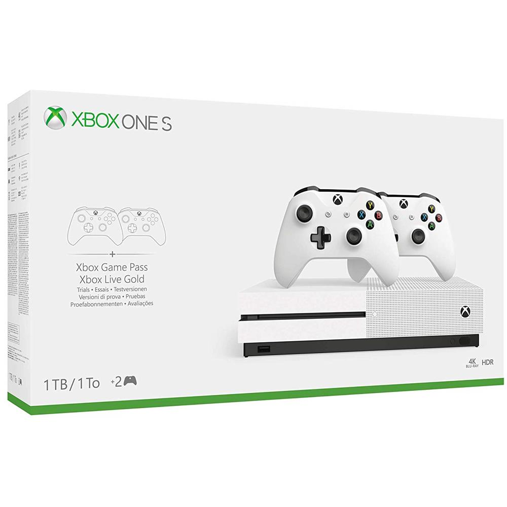 Console Xbox One S 1TB + 2 Controller Wireless + 1 Mese Gamepass