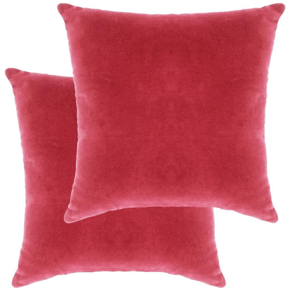 Cuscini In Velluto.Vidaxl Cuscini In Velluto Di Cotone 2 Pz 45x45 Cm Rosa Eprice