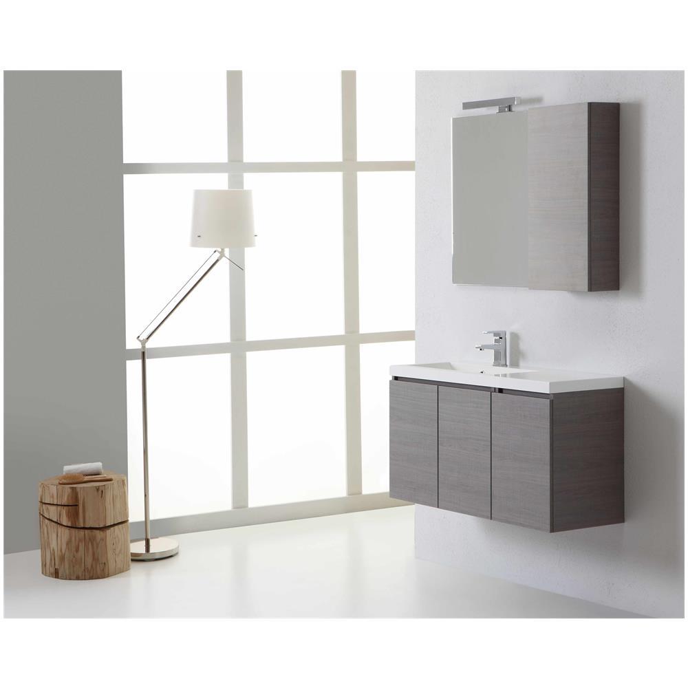 kiamami valentina mobile bagno manhattan da 90 cm sinistro con ante specchio con pensile eprice. Black Bedroom Furniture Sets. Home Design Ideas