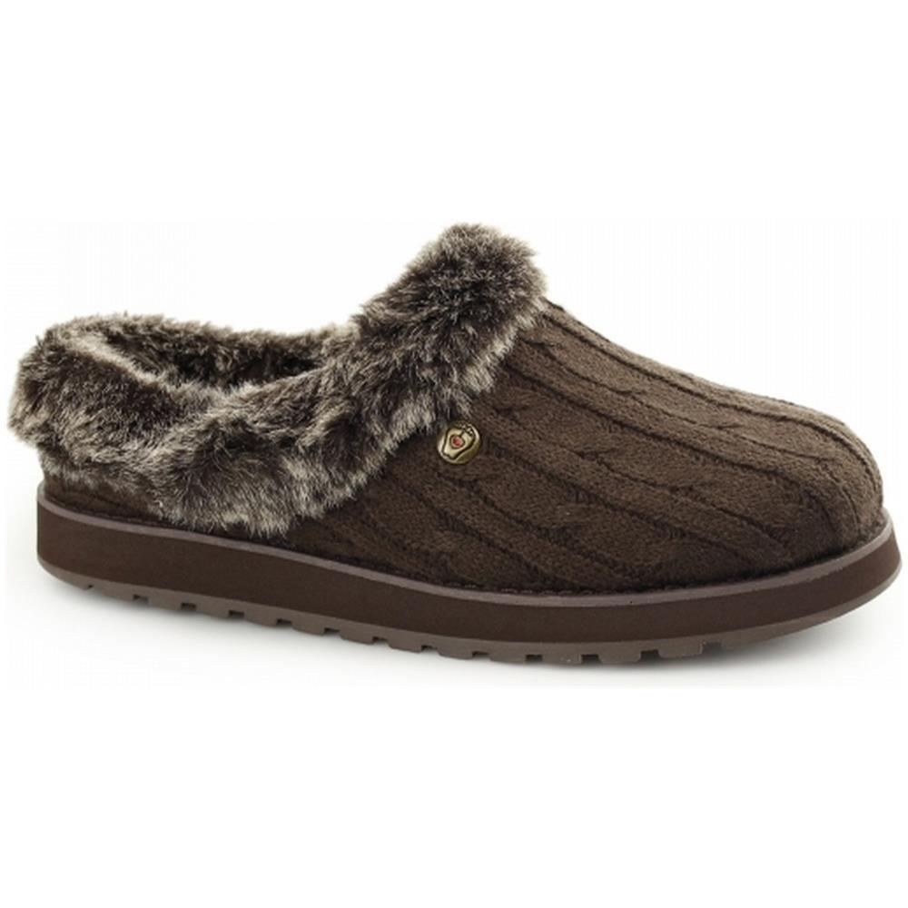 Skechers Keepsakes Ice Angel Pantofole Invernali Donna (39) (cioccolato)