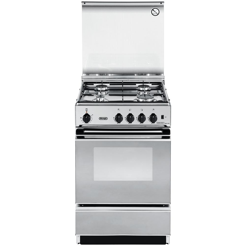 DE LONGHI - Cucina freestanding 50x50 4 fuochi inox, forno elettrico ...