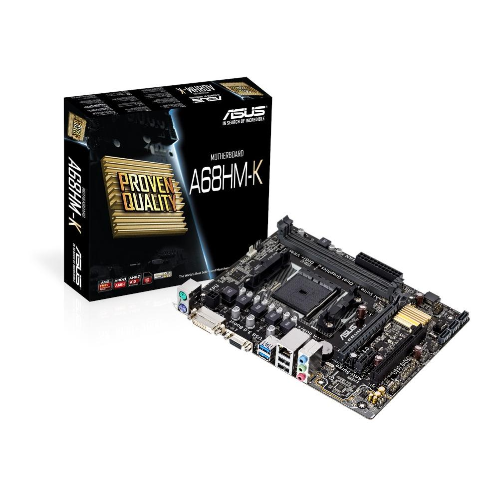 Scheda Madre A68HM-K socket AMD FM2+ chipset AMD A68H FCH (Bolton D2H) Micro-ATX