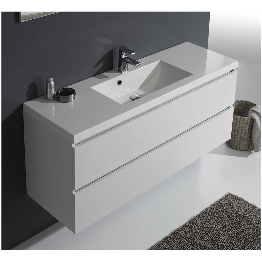 kiamami valentina mobile bagno manhattan con cassetti da 120 cm in bianco foresta eprice. Black Bedroom Furniture Sets. Home Design Ideas
