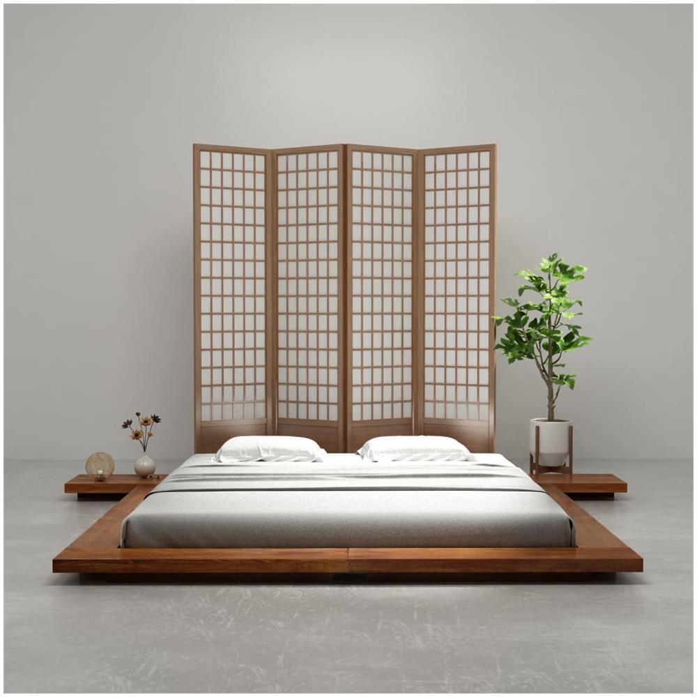 VIDAXL - Letto Futon Stile Giapponese Massello Finitura Sheesham 1 ...