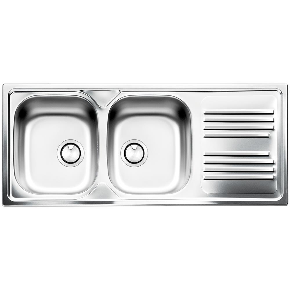 Lavandino Cucina Con Gocciolatoio apell lavello tm1162ilpc 2 vasche con gocciolatoio dimensioni 116 x 50 cm  colore inox serie atmosfera