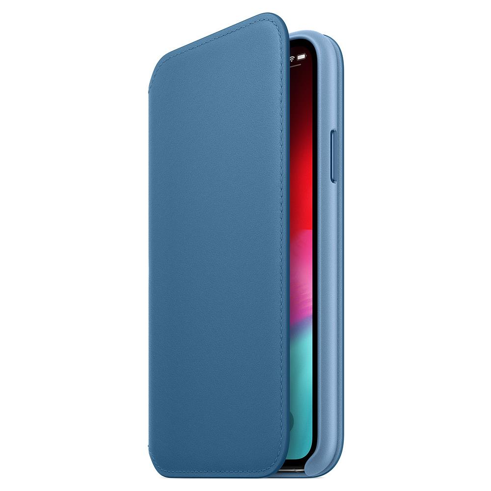 Custodia Apple Folio In Pelle Per iPhone X - Blu Elettrico - I.T.