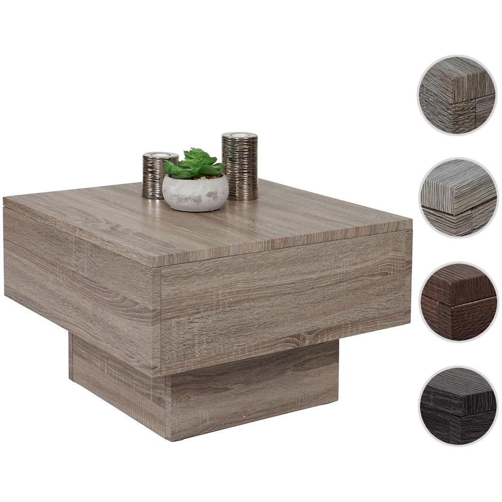 Tavolino Salotto Rovere Chiaro.Mendler Tavolino Da Salotto Hwc A31 Mdf 60x60x37cm Colore Rovere Scuro