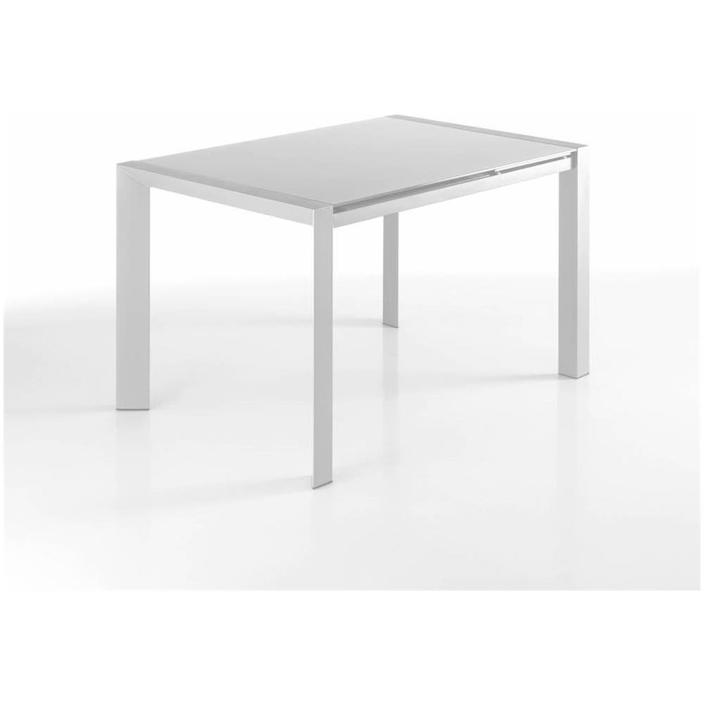 Tavoli In Metallo Allungabili.Tomasucci Tavolo Allungabile In Metallo Con Piano In Vetro