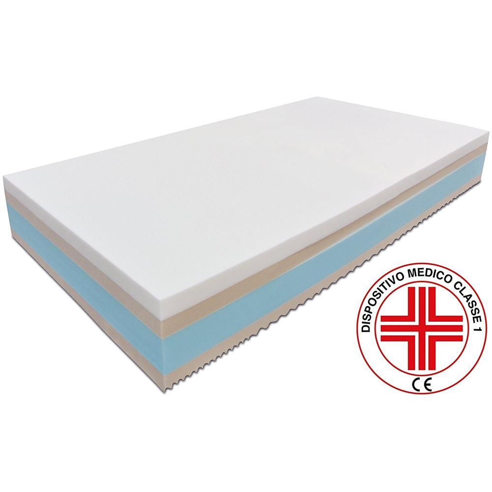Baldiflex Materasso Singolo In Memory Foam Top Misura 100 X 200 X 24 Cm,  Dispositivo Medico Detraibile Classe I, Antidecubito, Ergonomico,  Antiacaro, ...