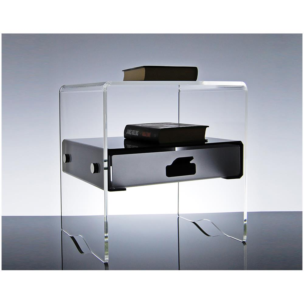 Slato - Comodino Con Cassetto Design Moderno In Plexiglass Morfeo ...