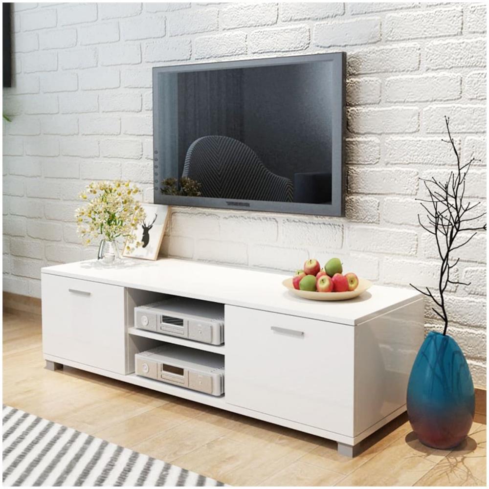 Vidaxl - Mobile Tv Bianco Laccato Lucido 120x40,3x34,7 Cm - ePRICE