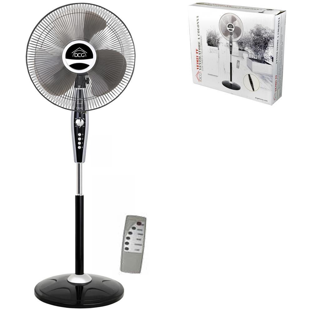 Superior DCG Ventilatore A Colonna VE 1621 TT Diametro 40 Cm Colore Argento / Nero