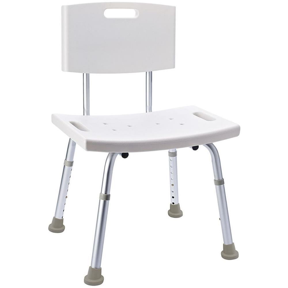 Ridder A0050401 Bianco colore Sgabello da bagno girevole ad altezza regolabile