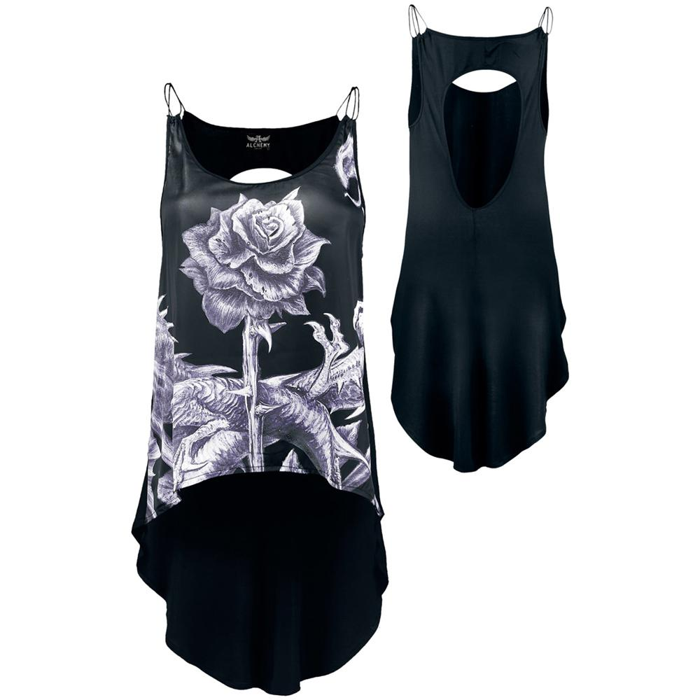 Abbigliamento Alchemy Top Chain: Aea Roses Rex (Top Donna Tg. L) NUOVO SIGILLATO, EDIZIONE DEL 31/03/2014 SUBITO DISPONIBILE
