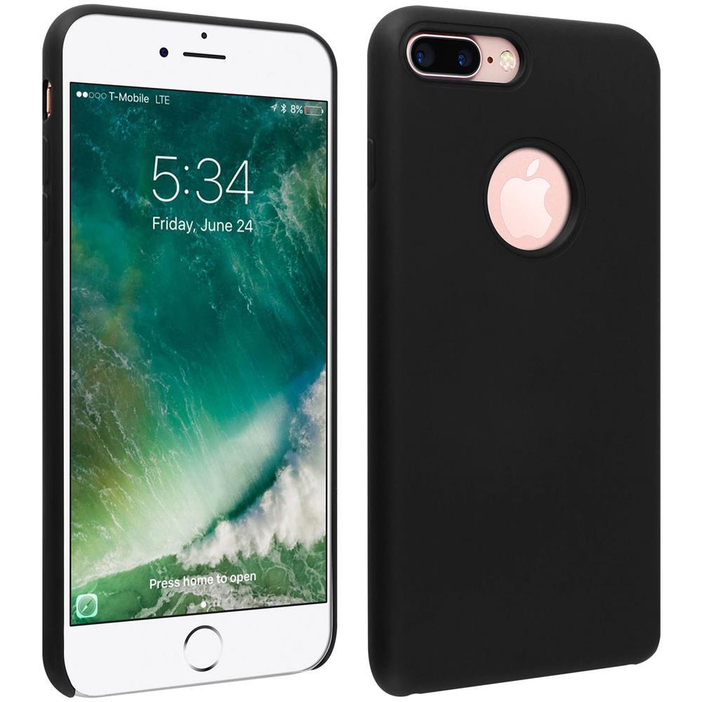 Avizar Cover Silicone Iphone 7 Plus / 8 Plus Semi-rigida Opaca Finitura Soft Touch Nera