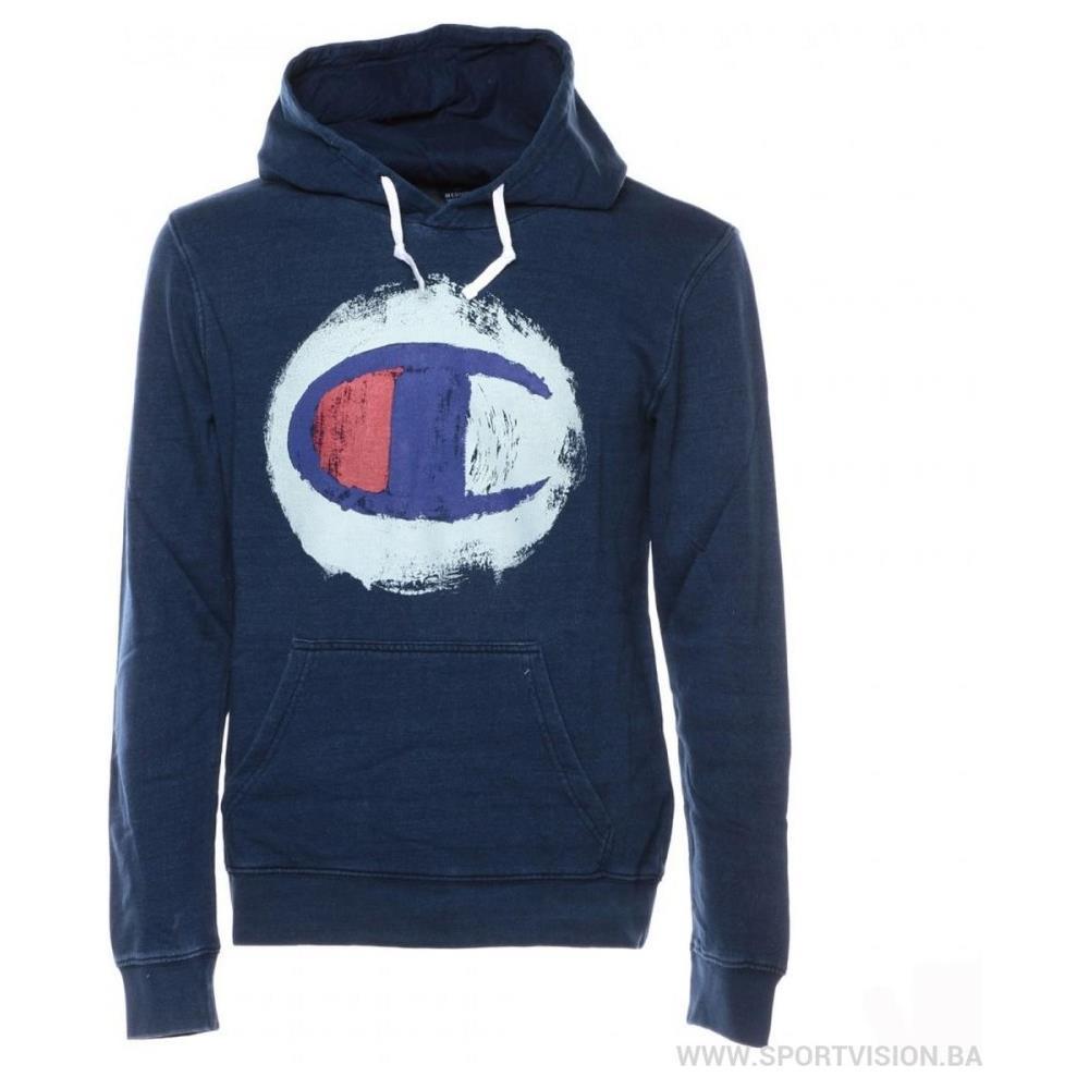 sale retailer c7589 70d7f CHAMPION Felpa Uomo Indigo Con Cappuccio - Taglia: Xl - Colore: Blu