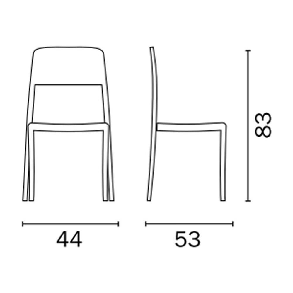 Sedie In Polipropilene Da Giardino.Moia Sedia In Polipropilene Da Giardino Color Bianco Cc 54b