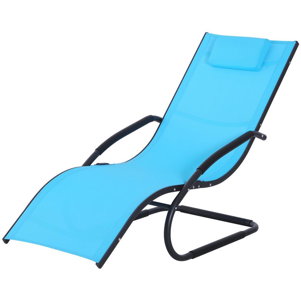 Sedie A Sdraio Per Interni.Outsunny Sedia Sdraio Da Giardino Per Esterni Design Ergonomico