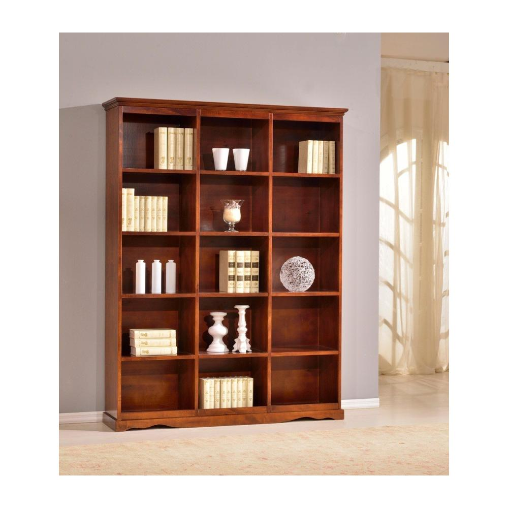 Libreria In Legno Noce.Estense Libreria In Legno Colore Noce Scuro L 156 P38h 205 Eprice