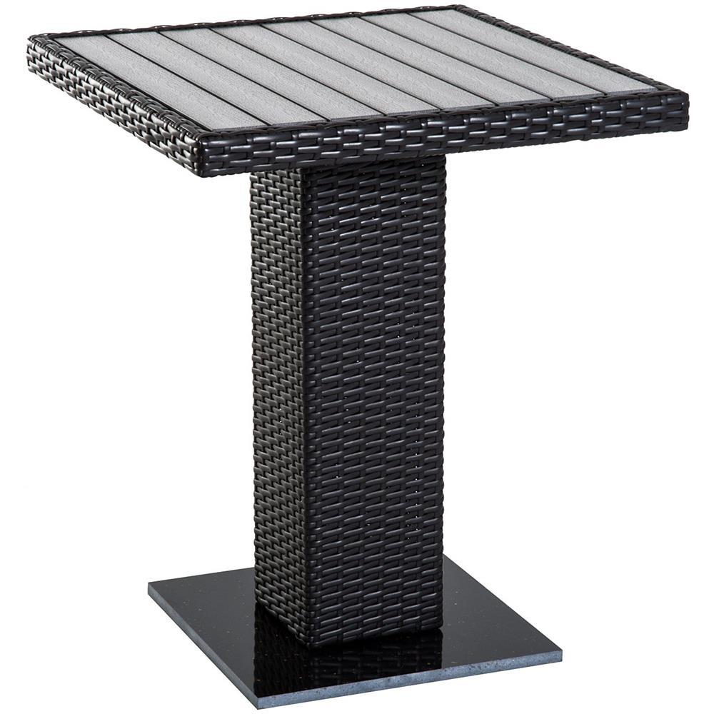 Tavoli Da Esterno Rattan Sintetico.Outsunny Tavolo Da Esterno Dal Design Moderno Intrecciato In Pe