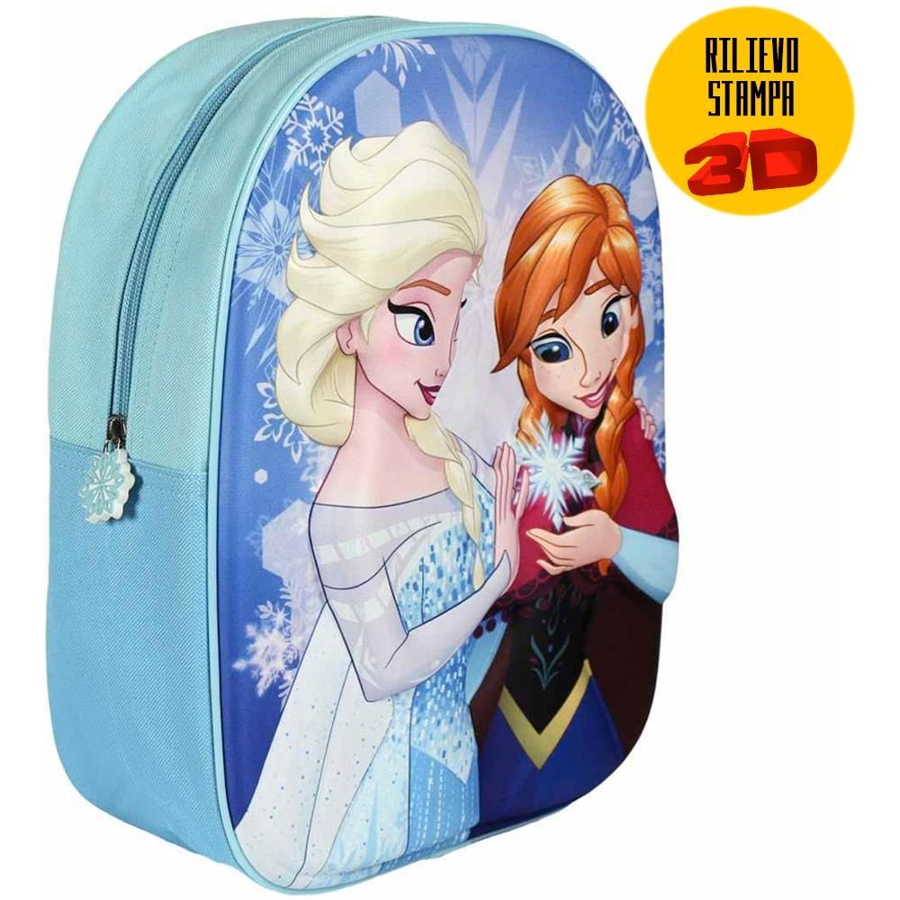 4b0b9cdfb0 TrAdE shop Traesio® Zainetto Frozen Elsa Anna Stampa Rilievo 3d Bambine  Scuola Asilo Tempo Libero