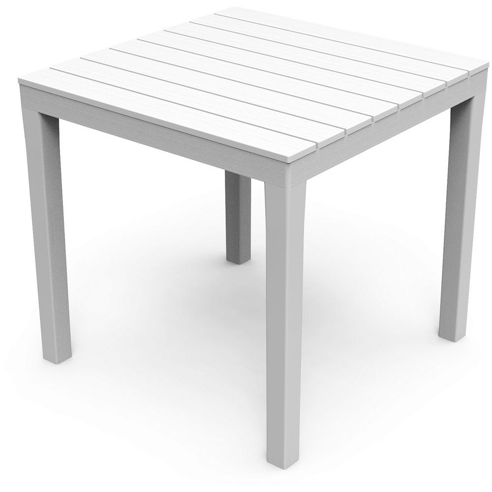 ipae-progarden - Tavolo Quadrato Colore Bianco - Modello Bali - ePRICE
