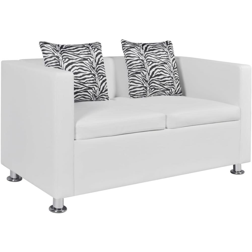 vidaxl divano 2 posti  Vidaxl - Divano a 2 Posti in Pelle Artificiale Bianco - ePRICE