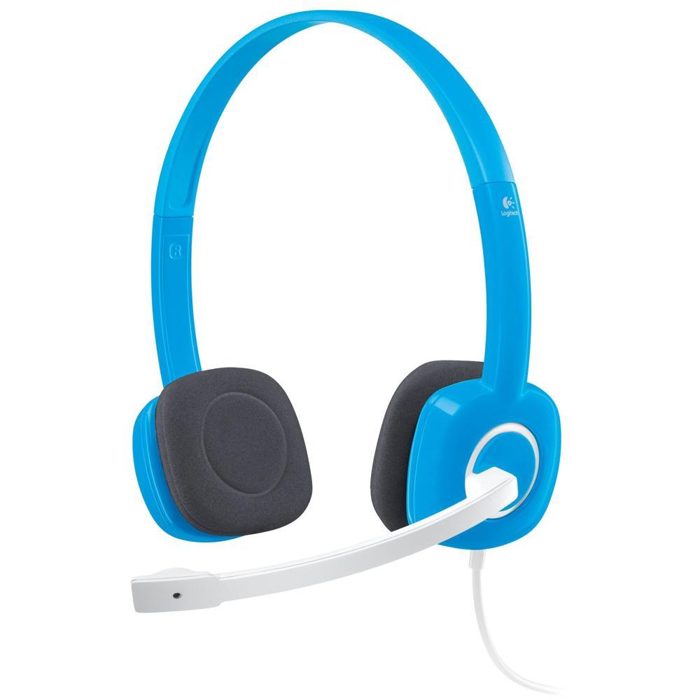 LOGITECH - Cuffie con Microfono per PC Connessione Cavo Blu 180 cm ... 2c0d05e032e9
