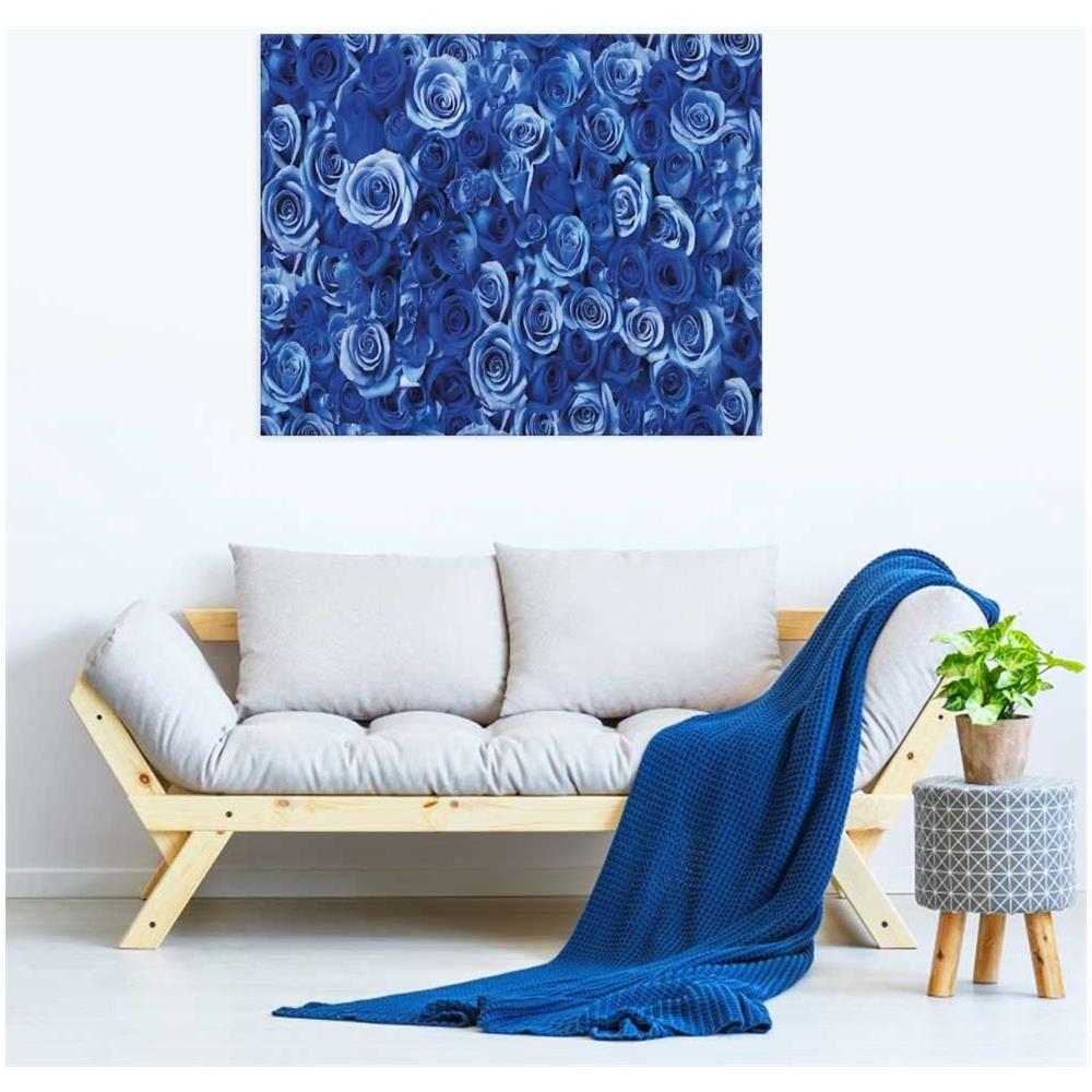 Declea - Quadri Moderni Rose Blu Quadro Arredamento Soggiorno ...