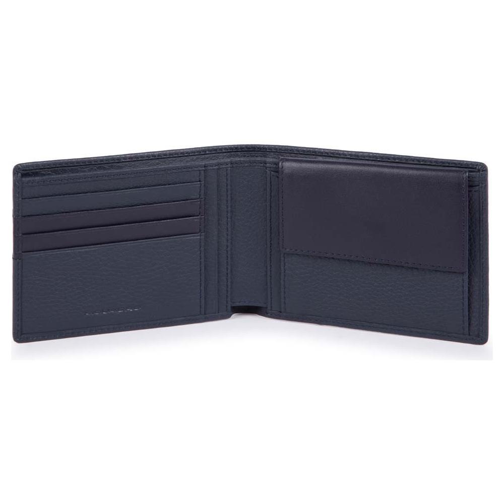 7618deead1 PIQUADRO Portafoglio Uomo Con Porta Monete In Pelle - Pu257s97r - Blu
