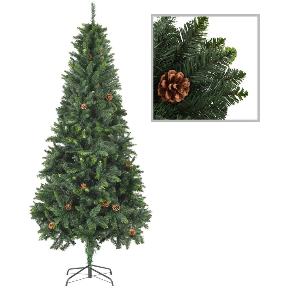 Albero Di Natale Con Pigne.Vidaxl Albero Di Natale Artificiale Con Pigne Verde 210 Cm Eprice