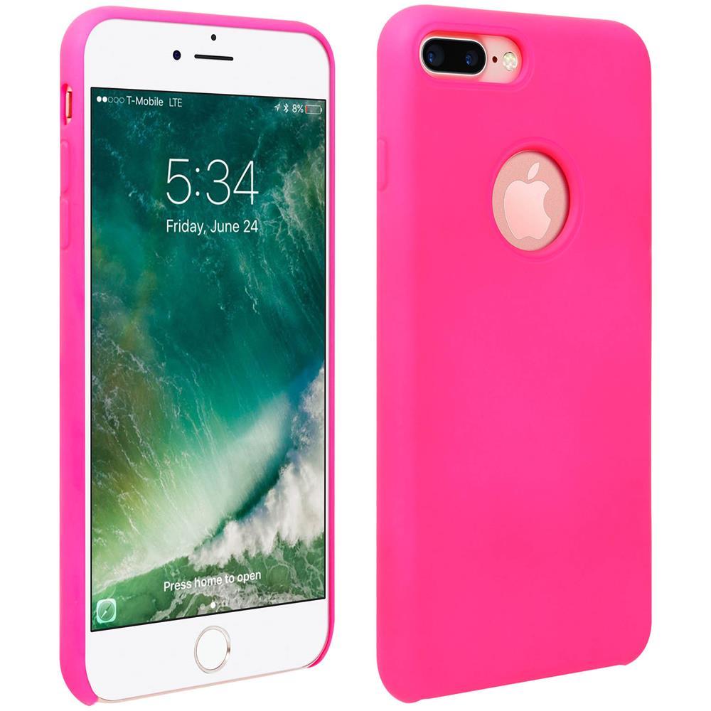 Avizar Cover Silicone Iphone 7 Plus / 8 Plus Semi-rigida Opaca Finitura Soft Touch Rosa
