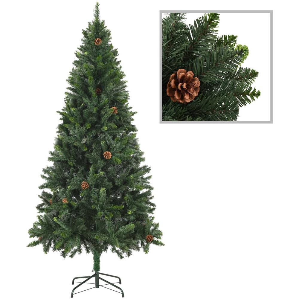 Albero Di Natale Con Pigne.Vidaxl Albero Di Natale Artificiale Con Pigne Verde 180 Cm Eprice