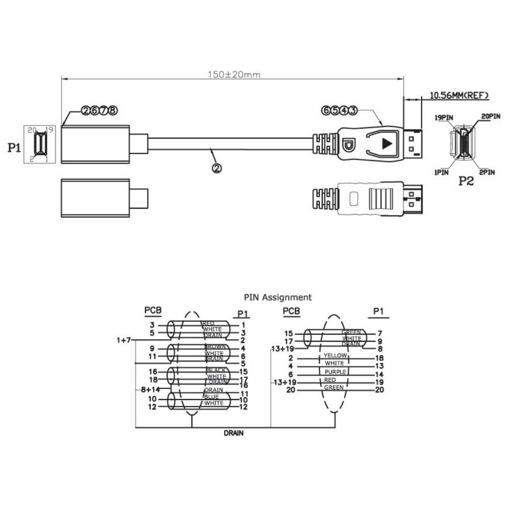 Logilink Iadap Mdp Hdmif2 Cavo Adattatore Video Displayport M Schematic Descrizione Scheda Tecnica Consegna E Pagamento