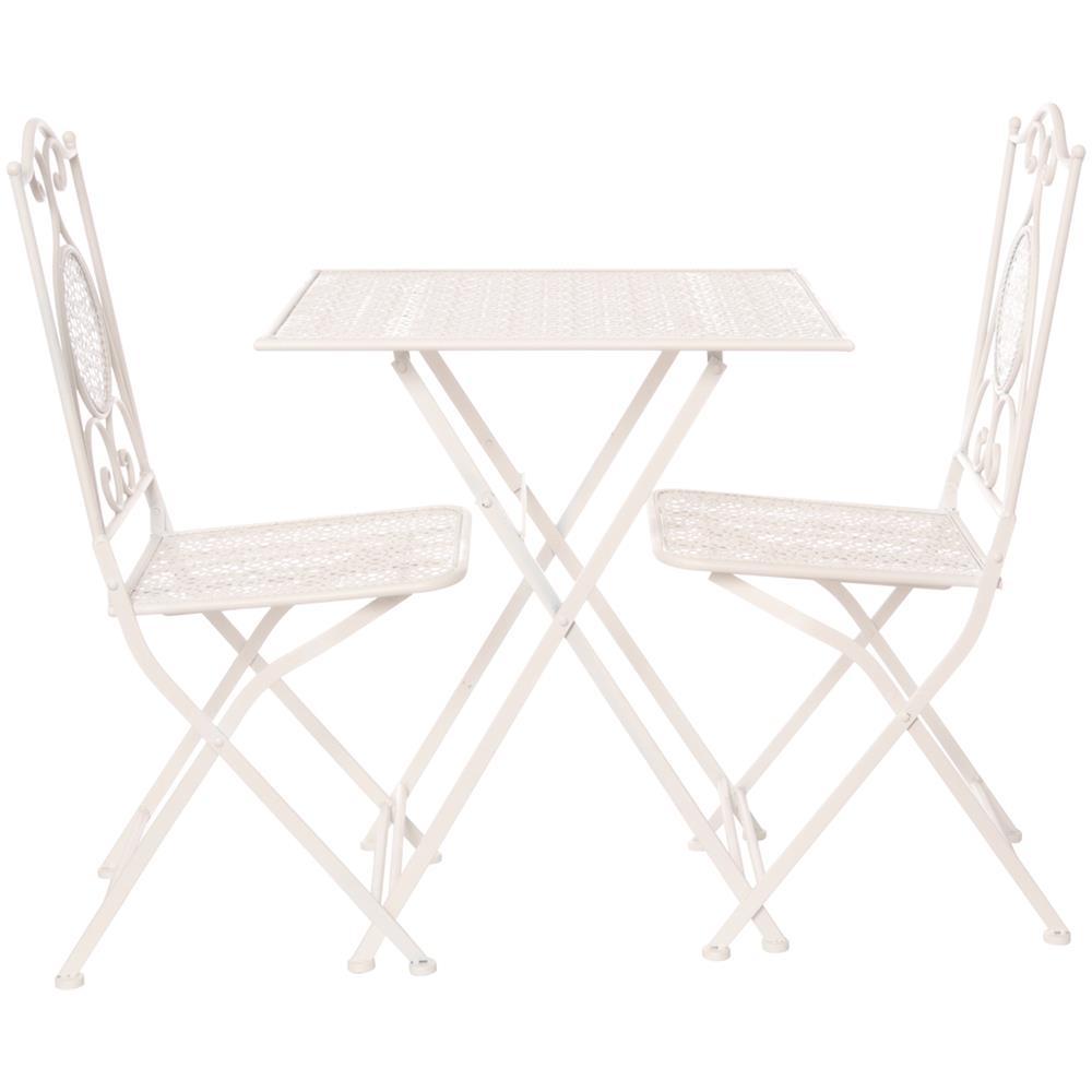 Set Tavolo Con 2 Sedie Pieghevoli In Ferro Arredamento Set Di Mobili